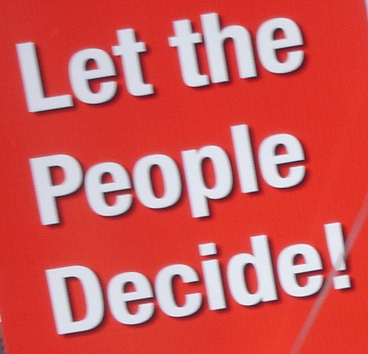 Demand for a referendum to let the people decide
