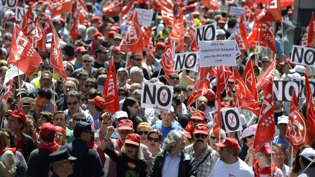 Demonstrations in Spain against bank bailout and austerity policies