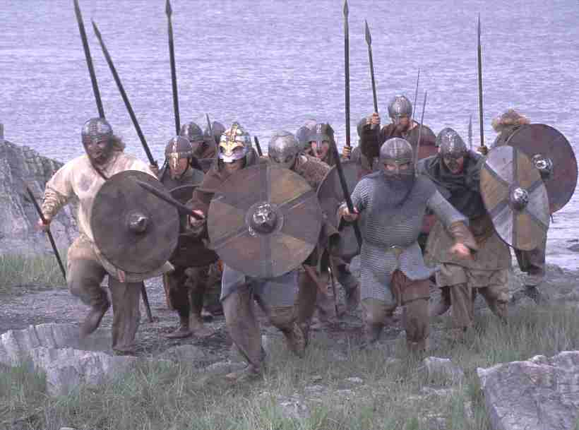 Raiding party of Vikings