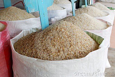 Rice mountains in EU stroes