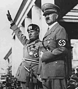 Mussolini and Hitler at the start of their attemp at a European Union to last a thousand years