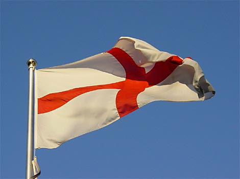 Flag of St George - the naitonal flag of England